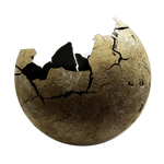Stone sphere cracked png