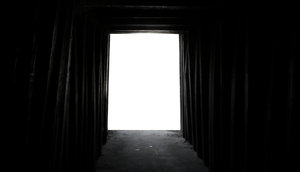 Abandoned wooden tunnel png
