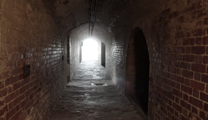 Abandoned brick tunnel png