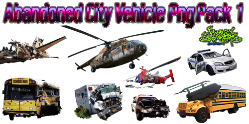Abandoned City Vehicle PNG Pack 1