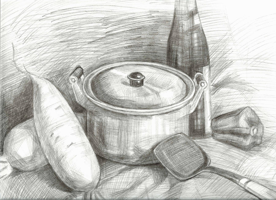 Veggies And Cooking Utensils By Sidriel