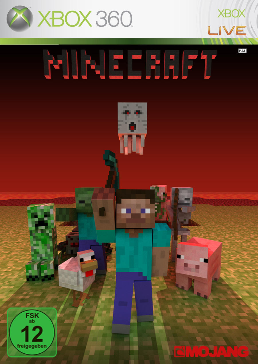 Book Cover Craft Xbox ~ Minecraft xbox cover by cero on deviantart