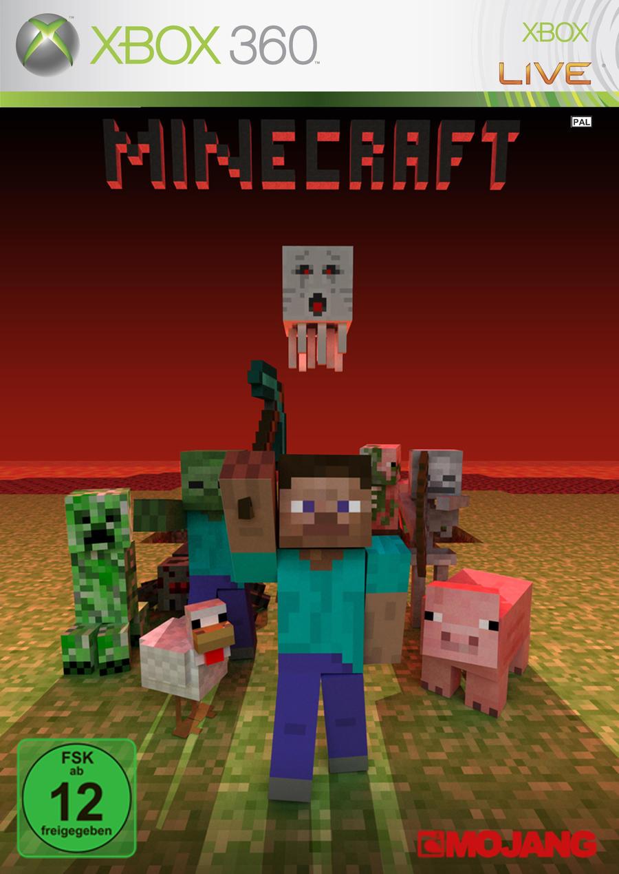 Xbox 360 Minecraft Cover Minecraft XBOX 360 Cov...