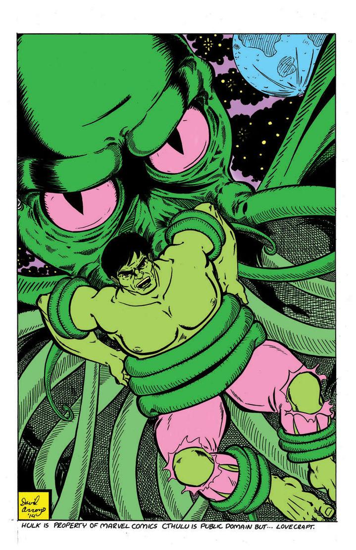 Hulk Vs Cuthulu Flats by davidarroyo