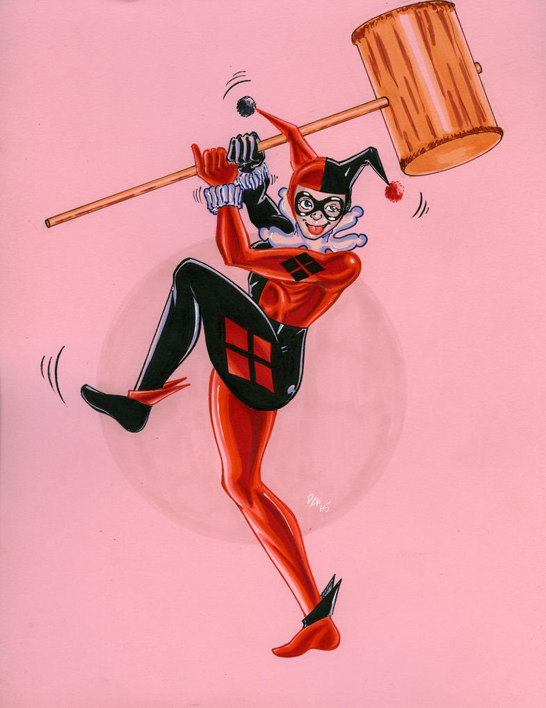 Harley Quinn gift sketch by davidarroyo