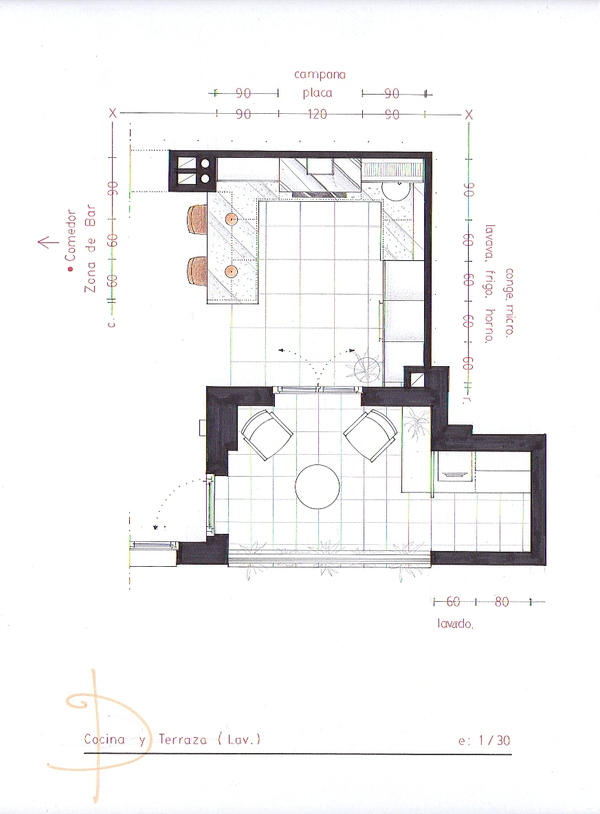 DH - Kitchen Plan by nikneuk