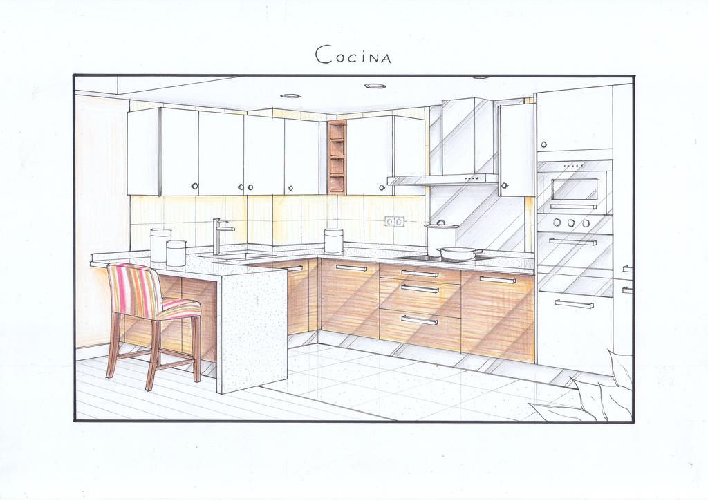 Arantxa's kitchen View by nikneuk