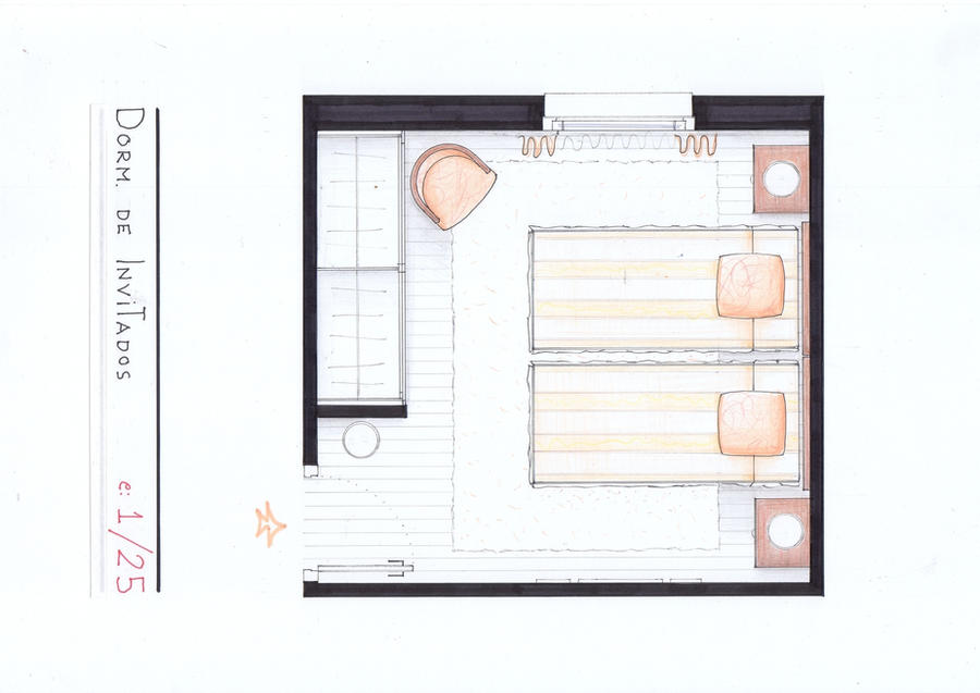 Arantxa's Guest Room Plan by nikneuk