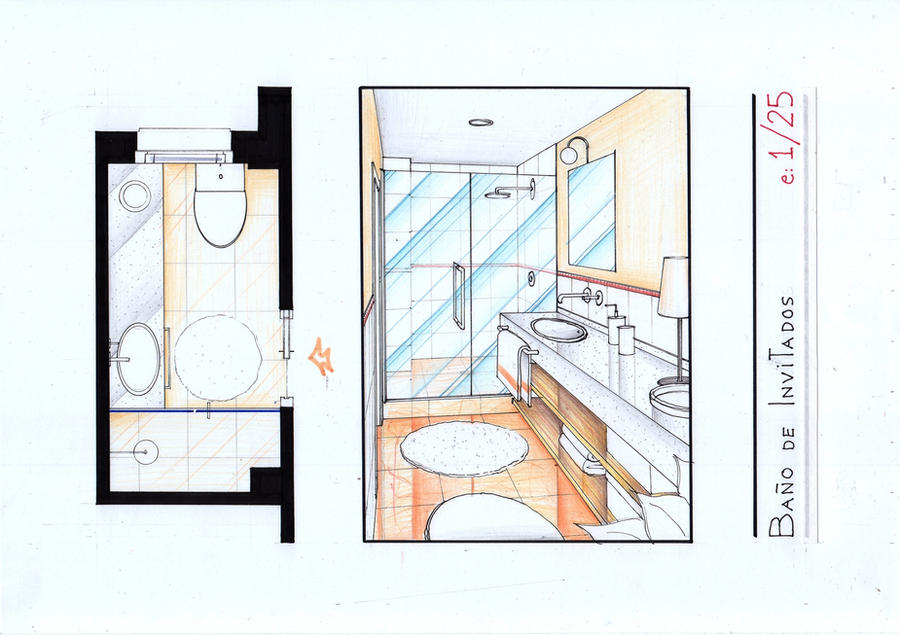 Arantxa's Bath 2 Plan-View by nikneuk