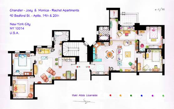 FRIENDS Apartments Floorplan (Old version) by nikneuk