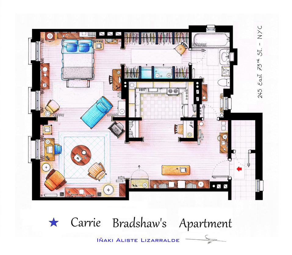 Carrie Bradshaw apartment from Sex and The City by nikneuk ...
