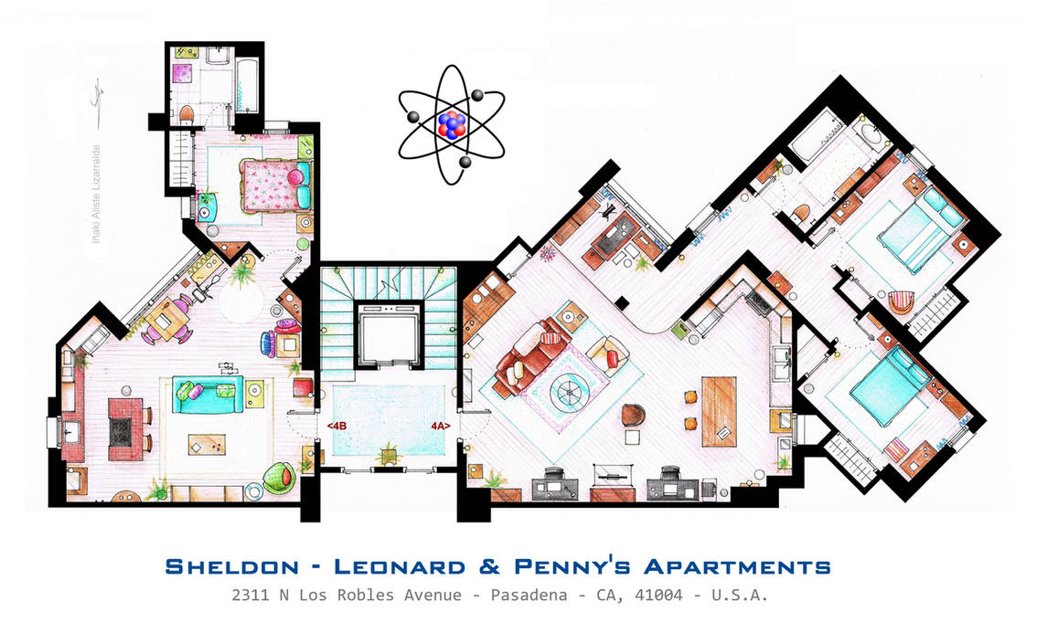 Sheldon Leonard And Penny Apartment From Tbbt By Nikneuk