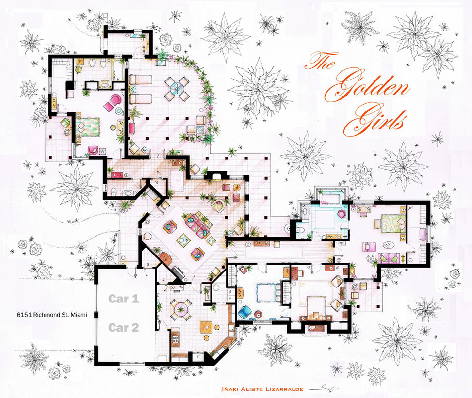 The Golden Girls House Floorplan V.1 By Nikneuk ...
