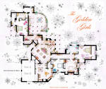 The Golden Girls House floorplan v.1