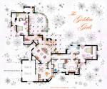 The Golden Girls House floorplan v.1