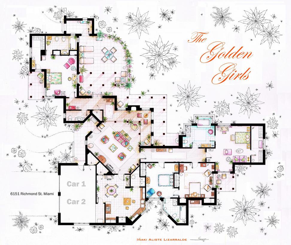 The Golden Girls House Floorplan V 2 By Nikneuk On Deviantart