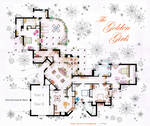 The Golden Girls House floorplan v.2