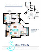 Jerry Seinfeld Apartment floorplan v2 by nikneuk