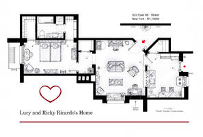 Lucy and Ricky Ricardo's home from I LOVE LUCY by nikneuk
