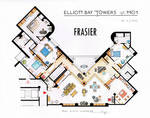 Frasier's Apartment Floorplan - Old version