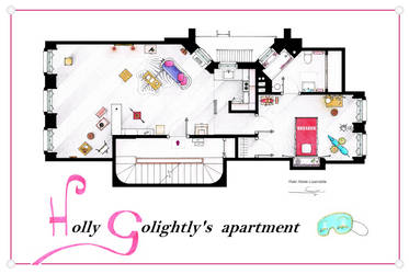 Breakfast at Tiffany's Apartment floorplan Poster by nikneuk