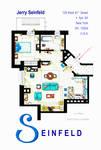 Jerry Seinfeld Apartment floorplan (Updated)