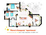 Floorplan of Three's Company Apartment