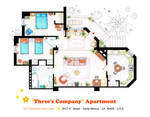 Floorplan of Three's Company Apartment