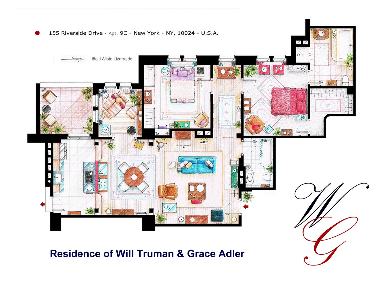 Apartment of Will Truman and Grace Adler