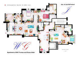 Apartments of Will Truman, Grace Adler and Jack by nikneuk