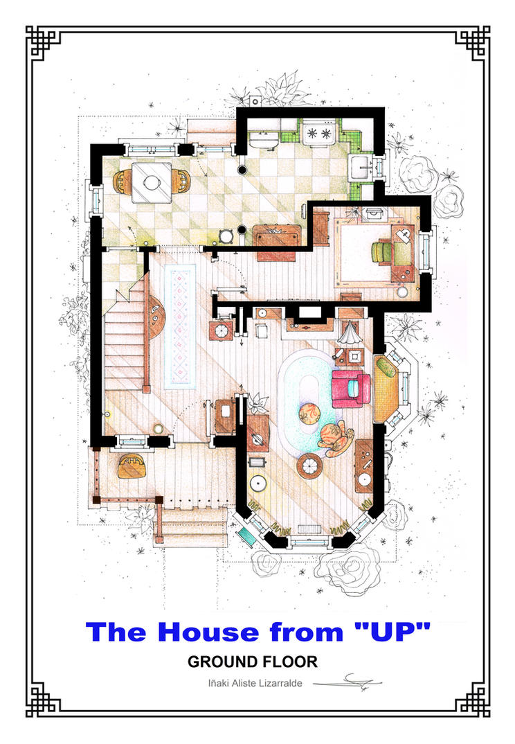 The House From UP Ground Floor Floorplan 350104372 on Dunder Mifflin Office Layout
