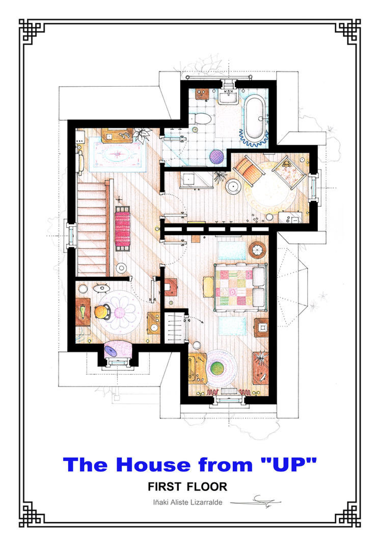 The house from up first floor floorplan by nikneuk