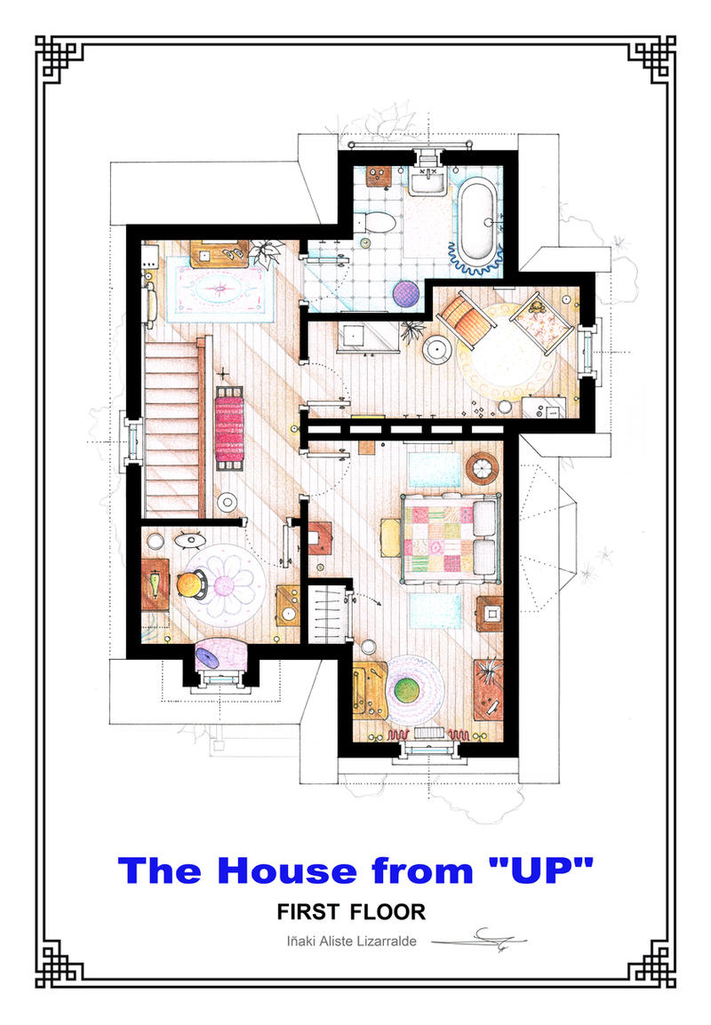 The House From Up First Floor Floorplan By Nikneuk On