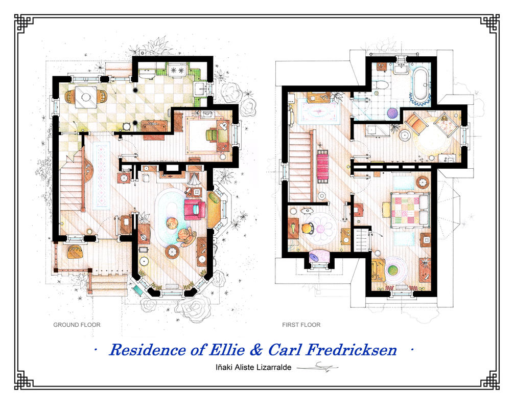Floorplans Of The House From UP By Nikneuk ...