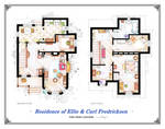 Floorplans of the house from UP