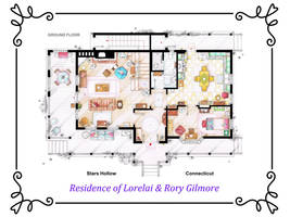 House of Lorelai and Rory Gilmore - Ground Floor by nikneuk