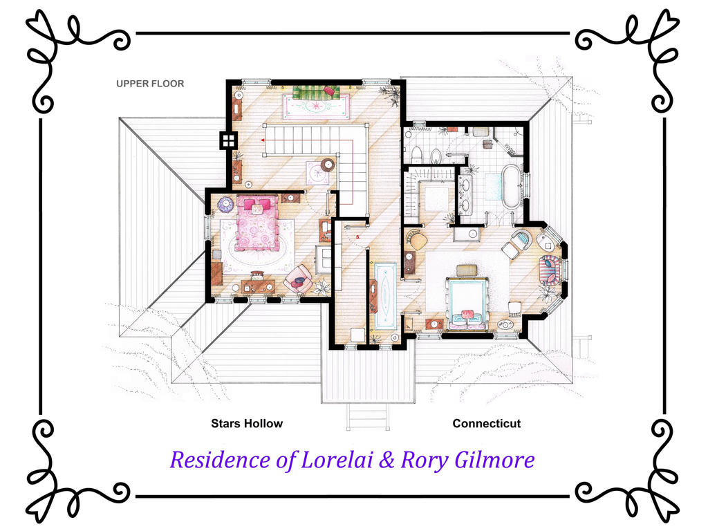 House Of Lorelai And Rory Gilmore First Floor By Nikneuk On Deviantart