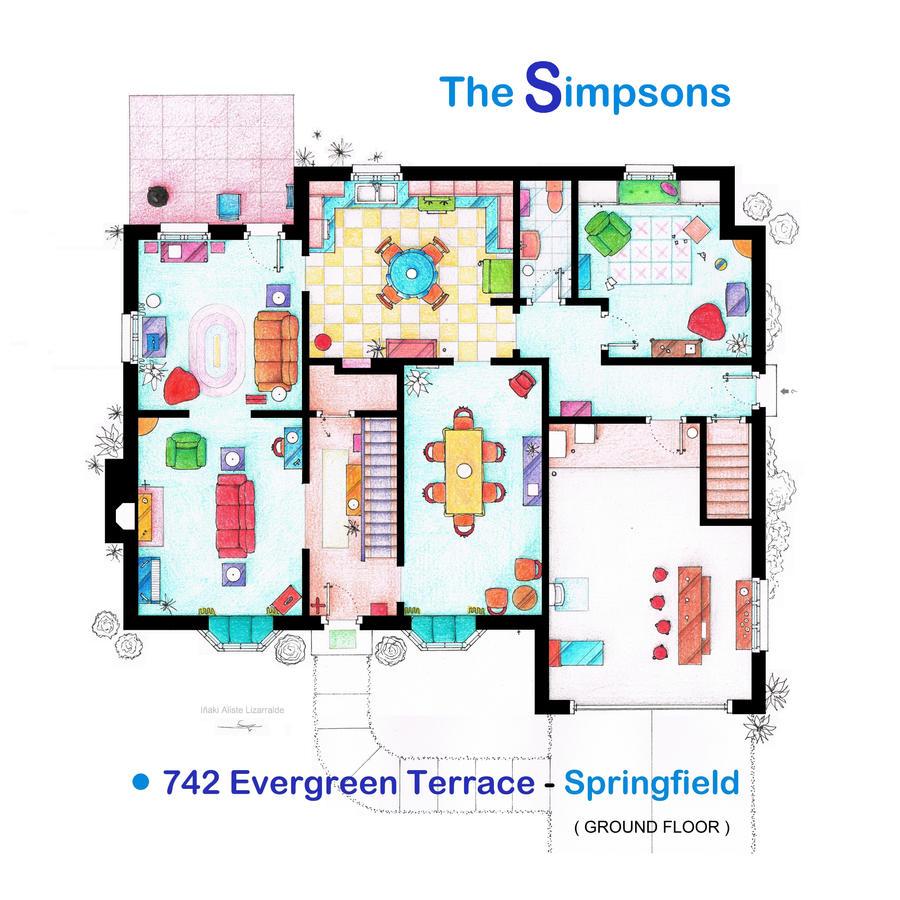 House of Simpson family - Ground Floor