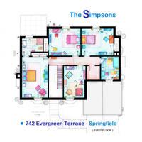 House of Simpson family - Upper Floor by nikneuk