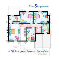 House of Simpson family - Upper Floor by nikneuk