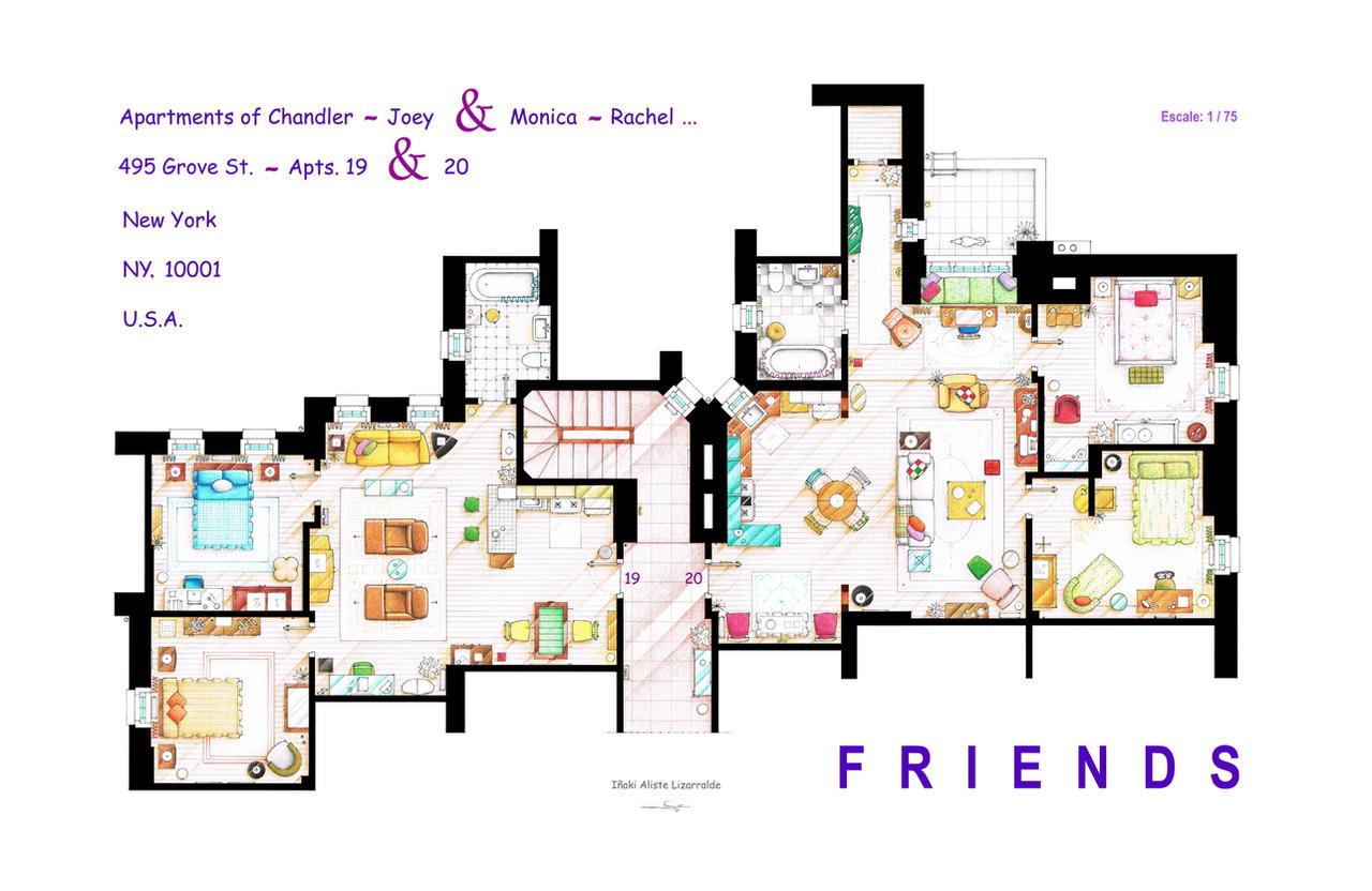 FRIENDS Apartment's Floorplans - New Version