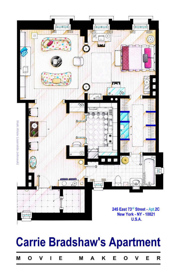 Carrie Bradshaw apt. (Sex and the City movies) by nikneuk
