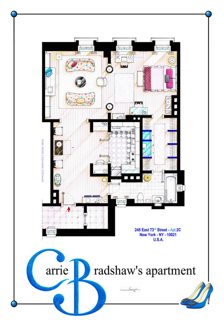 Carrie Bradshaw Apartment (Movie Version) POSTER by nikneuk