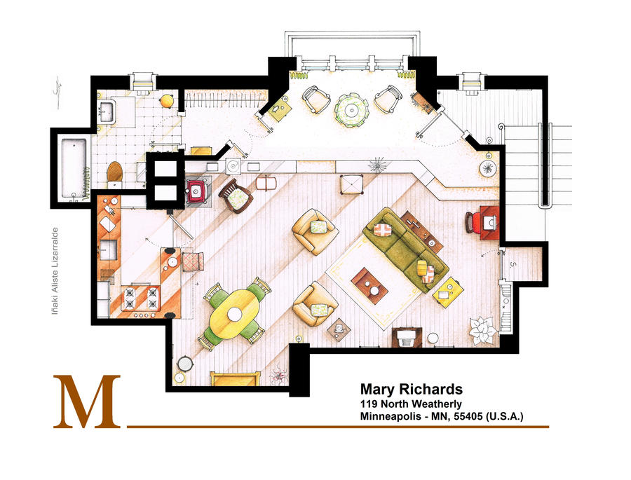 Mary Richards apt. from The Mary Tyler Moore Show by nikneuk