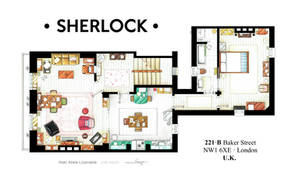 Floorplan of Sherlock Holmes apt. from BBCs series