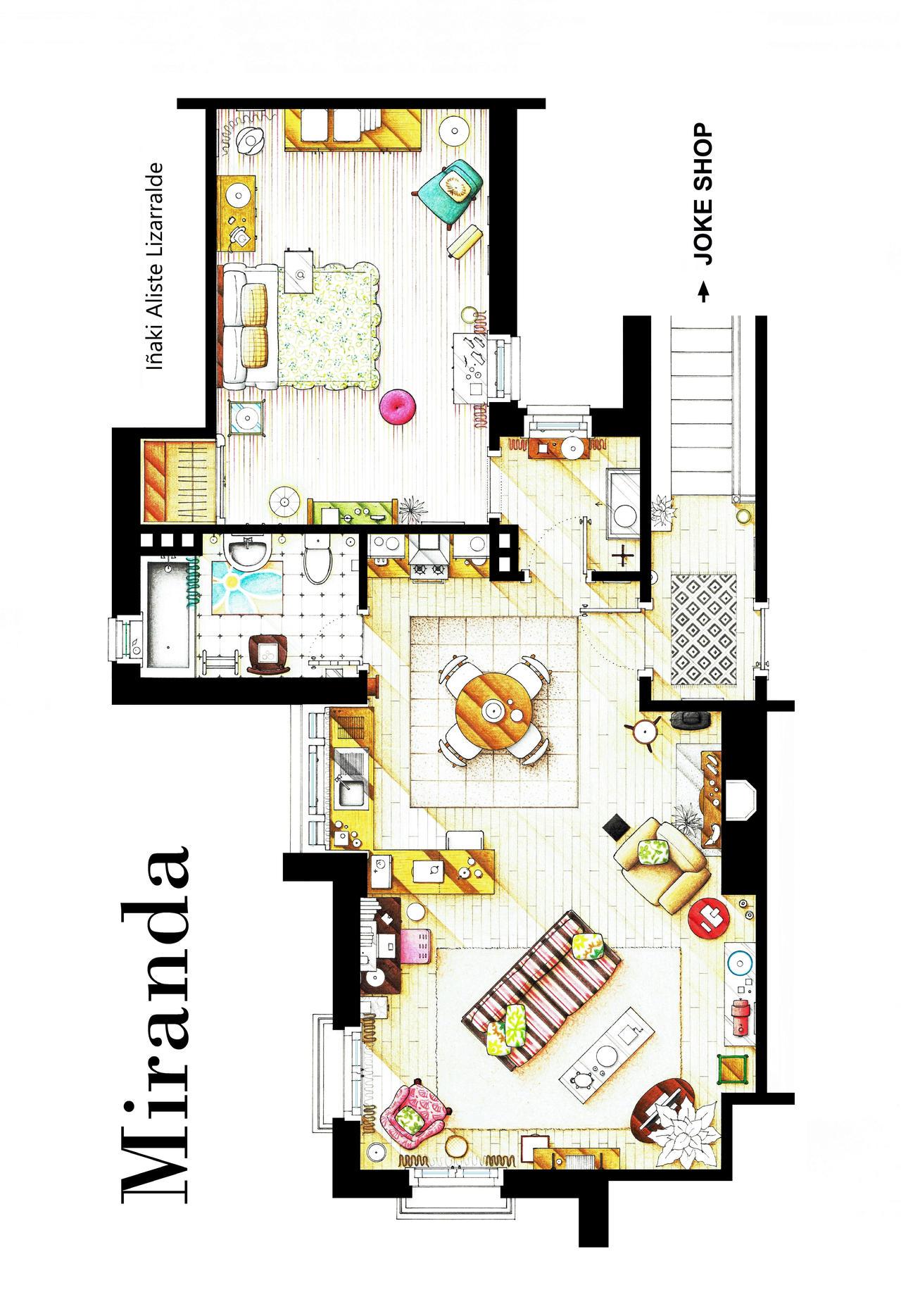 Floorplan of MIRANDA's Apartment by nikneuk