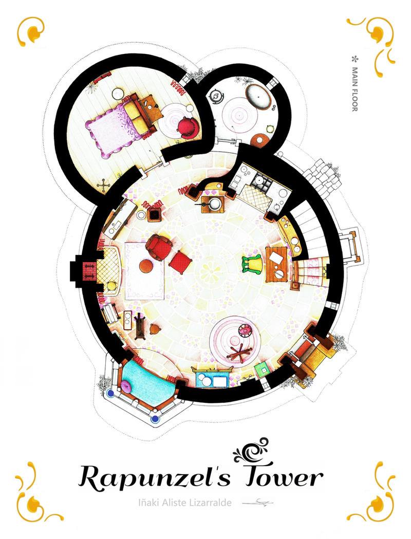 Rapunzel Tower From Tangled Main Floor By Nikneuk On Deviantart