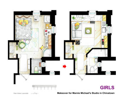 Makeover for Marnie Michael's estudio from GIRLS.