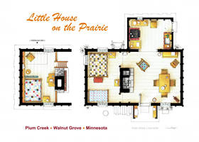 Floorplan of the LITTLE HOUSE ON THE PRAIRIE by nikneuk