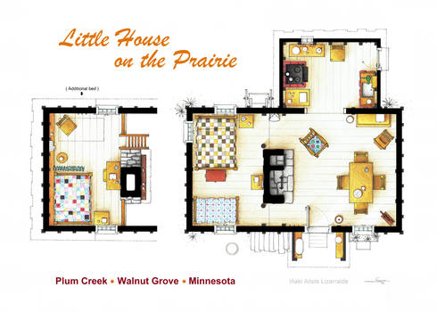 Floorplan of the LITTLE HOUSE ON THE PRAIRIE